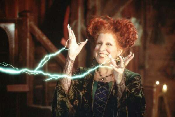 ABC5 (12/22/98) HOCUS POCUS-- Bette Midler stars as one of three 17th Century witches who accidentally find themselves in modern day Salem, Massachusetts.  They rant, they rave, they sing, they fly -- as the exact some light hearted retribution for the fate they suffered 300 years ago -- airing SATURDAY, JAN. 23 (8-10 pm, ET) on the ABC Television Network.