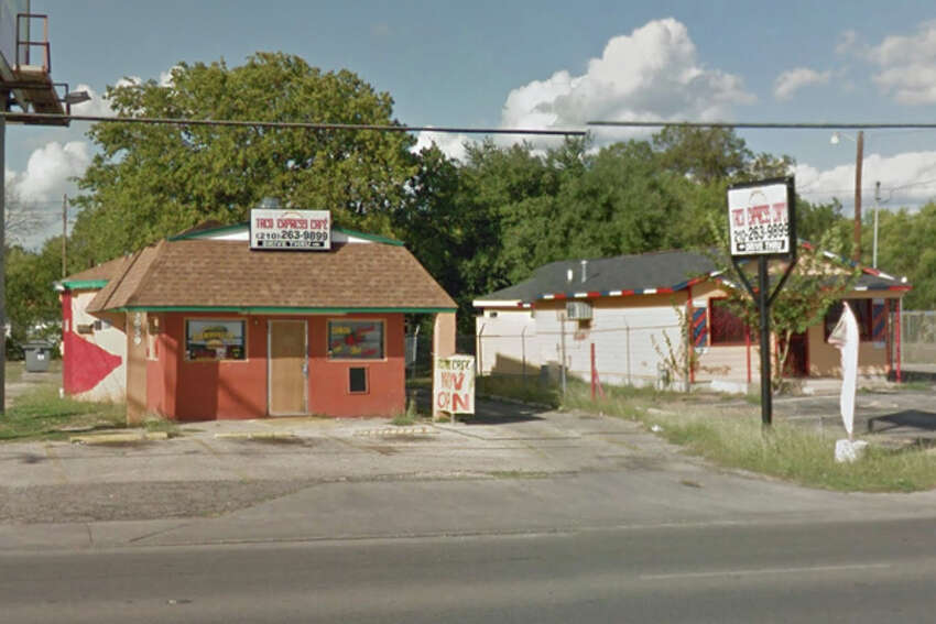 Taco Express Café: 3659 Culebra Road, San Antonio, Texas 78228Date: 05/23/2016 Score: 59Highlights: Cooked barbacoa, refried beans and carne guisada not held at correct temperature, inspector observed raw shelled eggs sitting on floor, eggs not held at proper temperature, employees did not wash hands properly prior to donning gloves, prepared foods did not have consume-by date, dirty dishes stored in mop sink