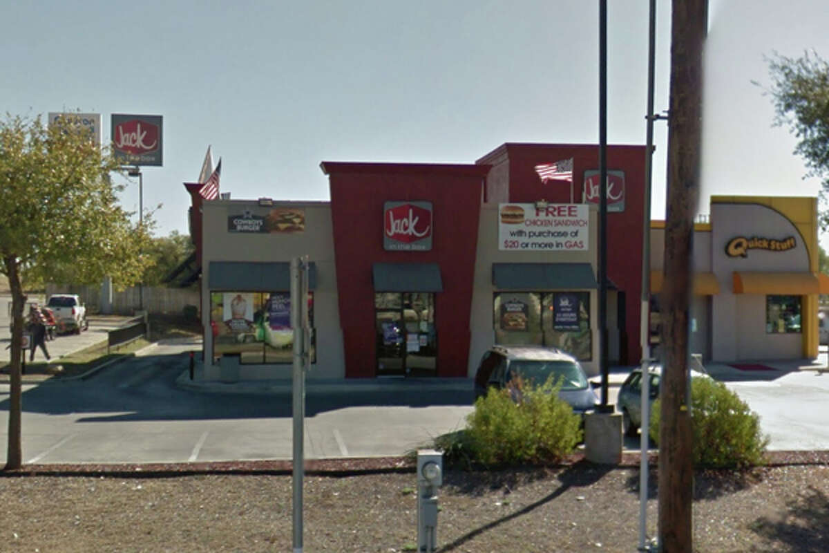 JACK IN THE BOX #942: 10418 PERRIN BEITEL San Antonio , TX 78233Highlights: Employee stored cell phone on prep line, open packages of lunch meat and cheese with no date markings, no paper towels at hand washing sink,