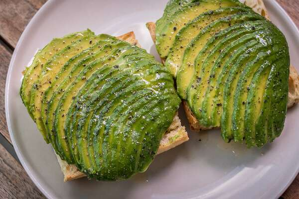 The Avocado Toast at the Frog Hollow Farm stand at the Ferry Building in San Francisco, Calif., is seen on Wednesday, May 13th, 2014.