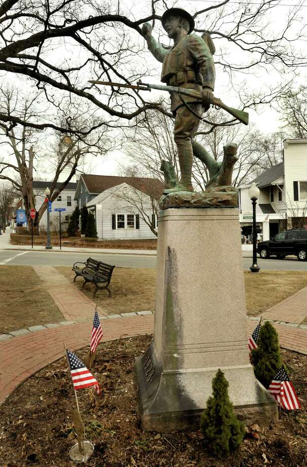 P.T.Barnum Square in Bethel. Photo: Michael Duffy, ST / The News-Times