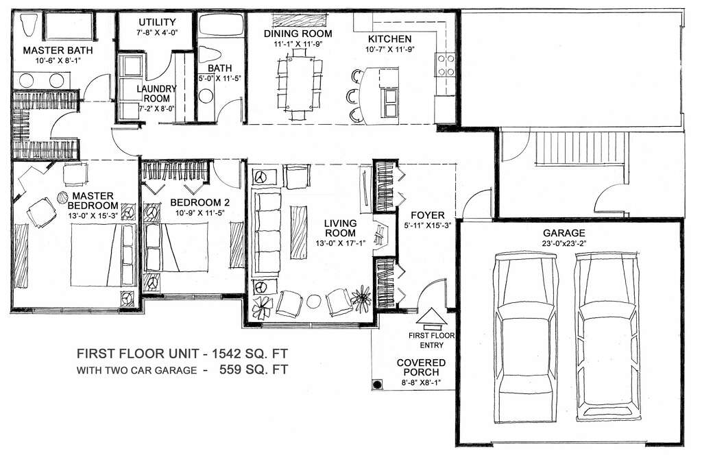 Plans For The First Floor At 103 Lois Lane At Fieldstone Drive, Niskayuna  By Country