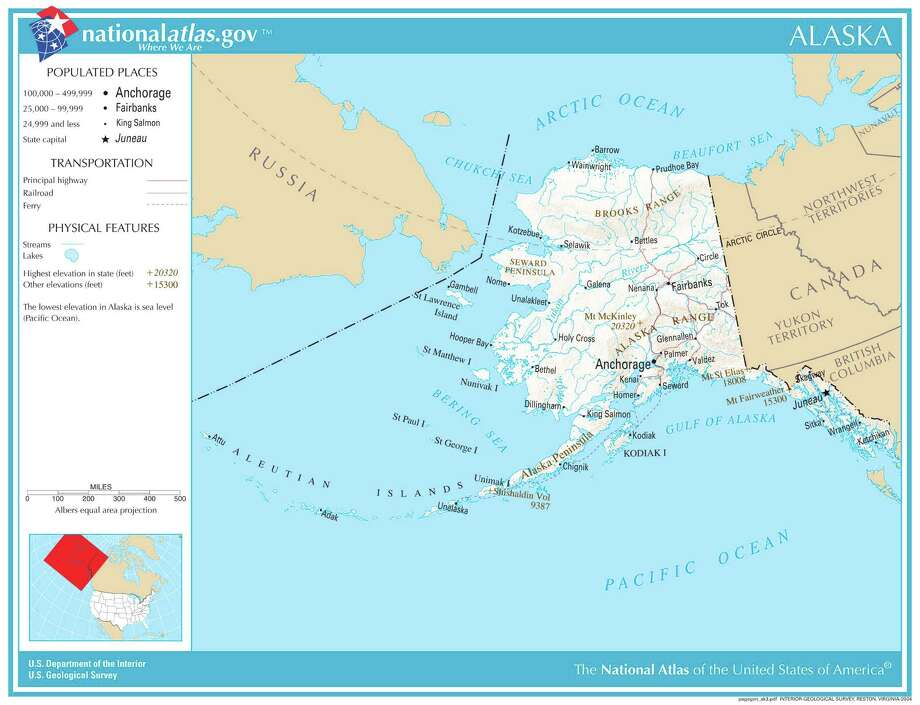 AlaskaRank: 51Drug prescriptions filled per person in 2014: 7.8Map credit: United States Geological Survey Photo: USGS