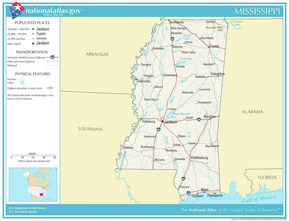 MississippiStudents dealt corporal punishment in 2011-2012 school year: 31,236Percent of white students dealt corporal punishment: 4.75 percentPercent of black students dealt corporal punishment: 8.06 percentData from: Brookings Institute and U.S. Office of Civil RightsMap credit: United States Geological Survey Photo: USGS