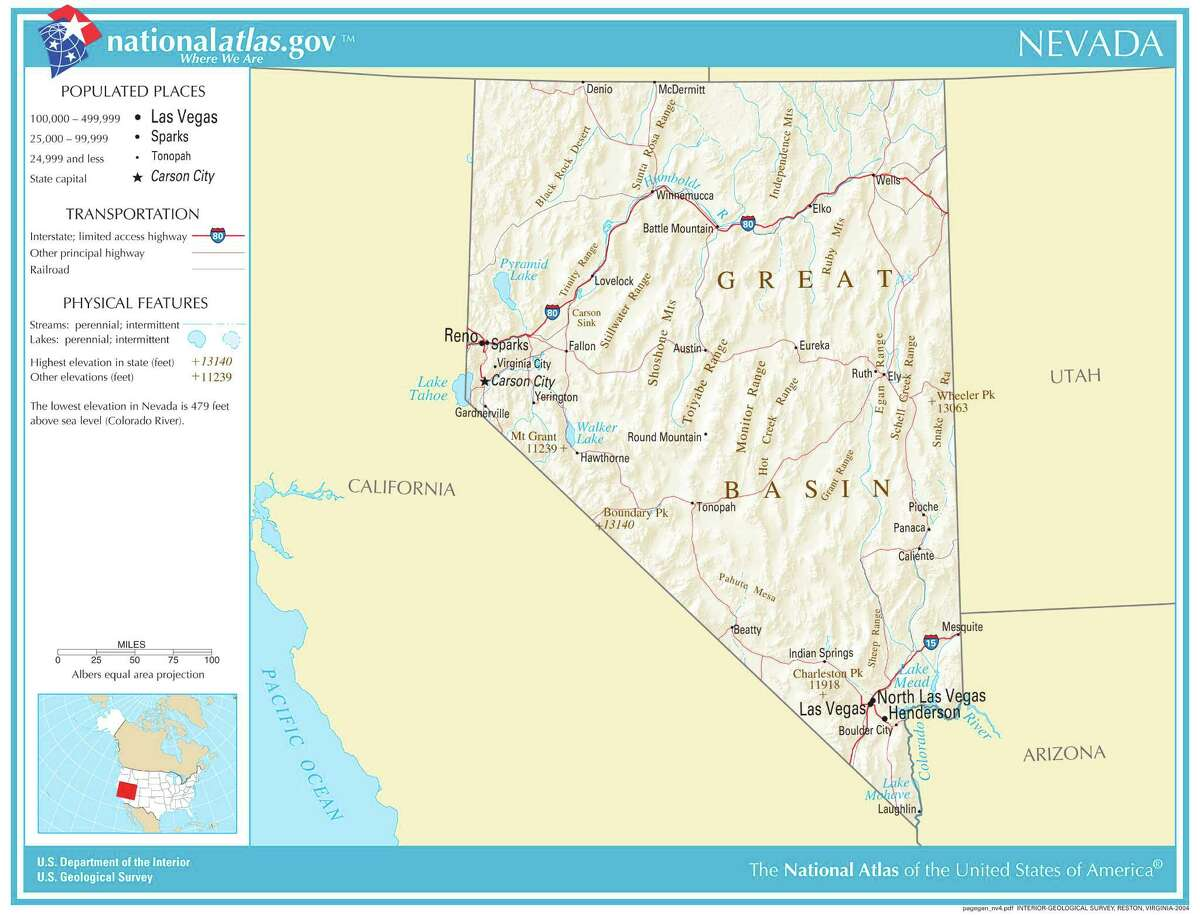 Nevada Overall rank: 9 Affordability rank: 8 Quality of life rank: 12 Health care rank: 43 According to:Wallet Hub Map credit: United States Geological Survey