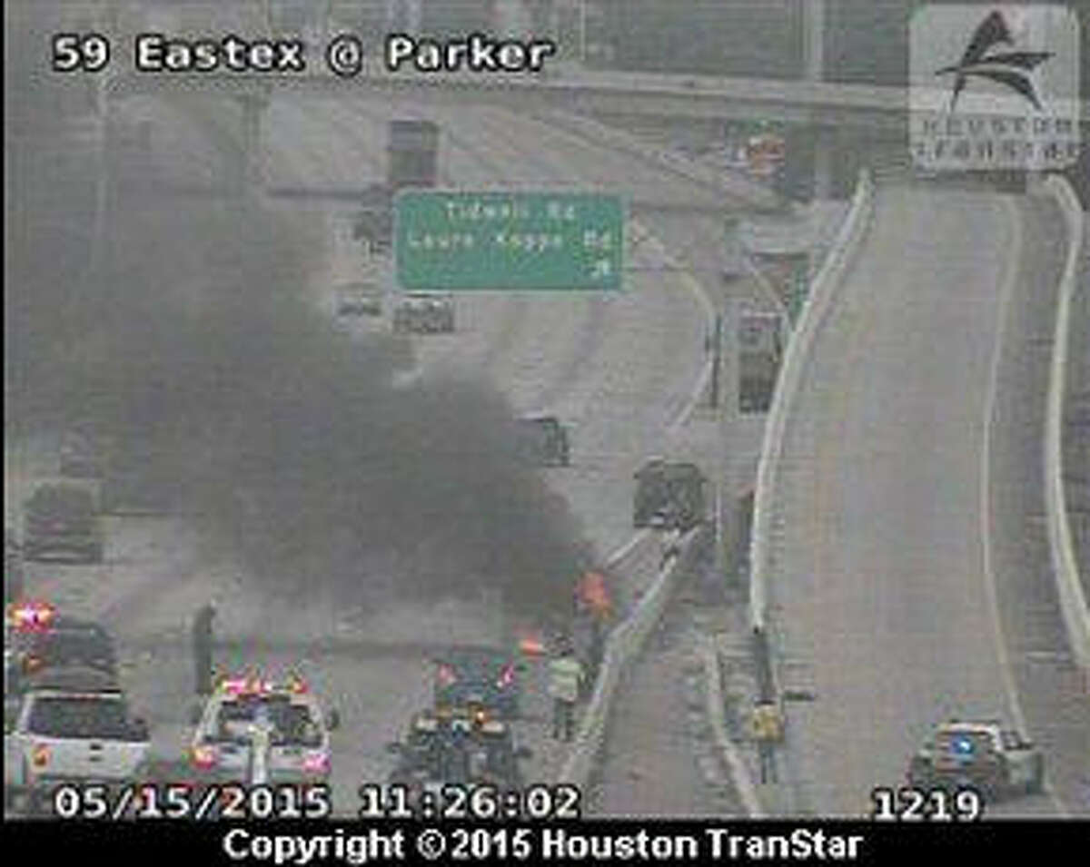 A vehicle fire on US-59 southbound near Tidwell north of downtown is causing traffic problems in the area.
