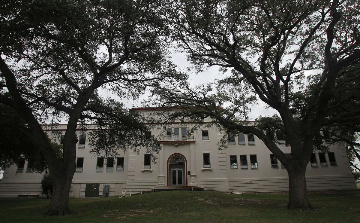 The former Kelly Air Force Base headquarters building at Port San Antonio