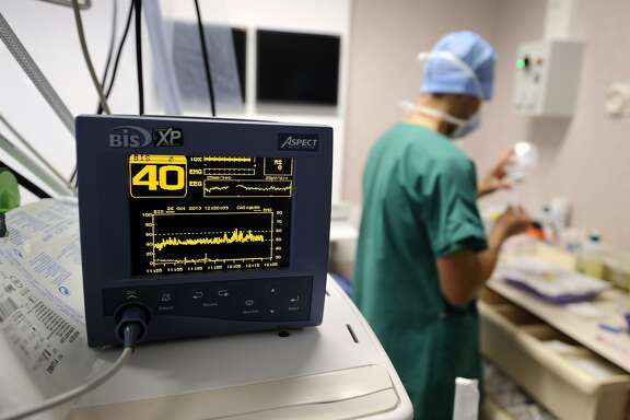A view of a monitor during an open-heart surgery in a cardiac surgery unit at the CHU Angers teaching hospital in Angers, western France, on October 24, 2013. The Angers hospital employs 6,000 people including 980 doctors. AFP PHOTO / JEAN-SEBASTIEN EVRARD (Photo credit should read JEAN-SEBASTIEN EVRARD/AFP/Getty Images)