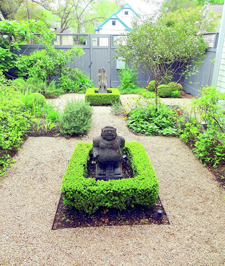 Hindu deities are prominent in this kitchen garden. Photo: Picasa