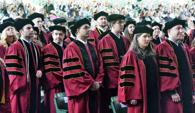 Albany Law School graduates during Commencement Ceremonies at Saratoga Performing Arts Center Friday May 15, 2015 in Saratoga Springs, NY.  (John Carl D'Annibale / Times Union) Photo: John Carl D'Annibale, Albany Times Union / 00031496A