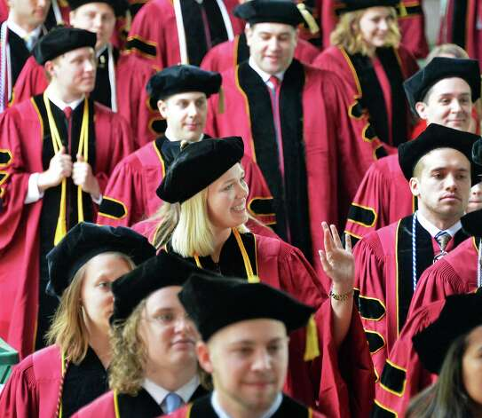 Albany Law School graduates file into Saratoga Performing Arts Center for Commencement Ceremonies  Friday May 15, 2015 in Saratoga Springs, NY.  (John Carl D'Annibale / Times Union) Photo: John Carl D'Annibale, Albany Times Union / 00031496A