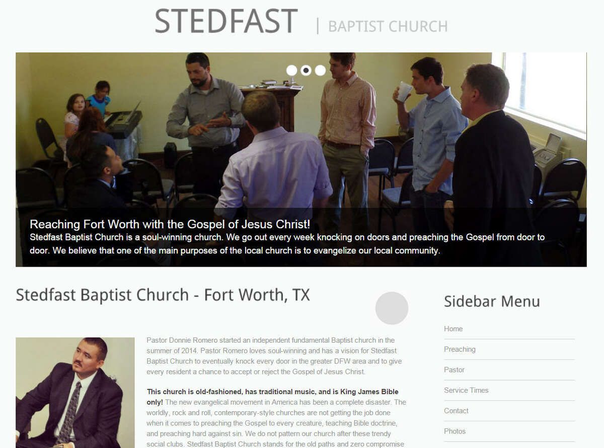 The Stedfast Baptist Church in Fort Worth was added to the Southern Poverty Law Center's list of hate groups this year.