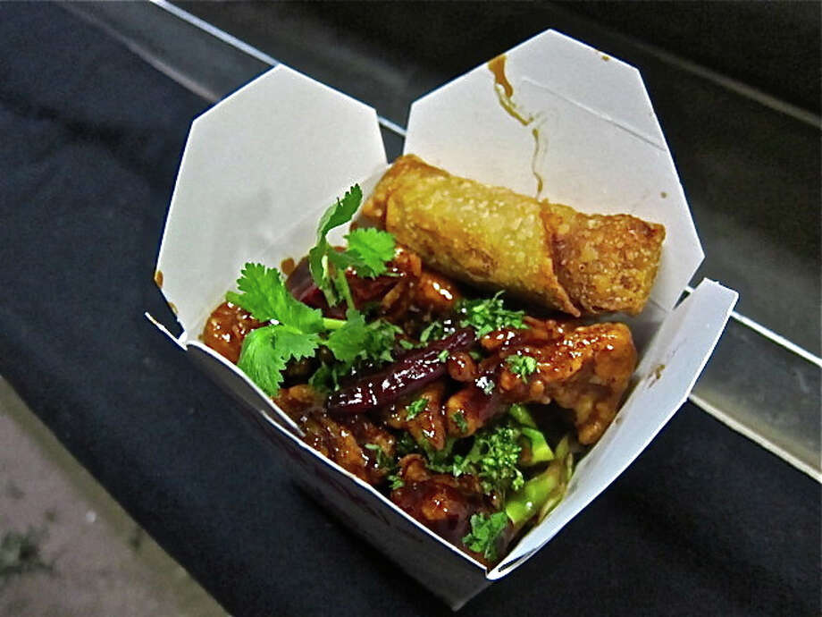THE RICE BOXThis popular food truck just opened up a brick-and-mortar location in Greenway Plaza. This, after finding success serving retro Chinese-American dishes such as this General Tso's chicken, served with rice and an egg roll.Keep clicking to take a look at other popular food trucks around the city. Photo: Alison Cook / ONLINE_YES
