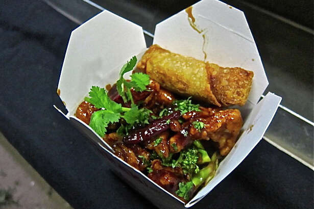 The Rice Box has found success serving retro Chinese-American dishes such as this General Tso's chicken, served with rice and an egg roll.