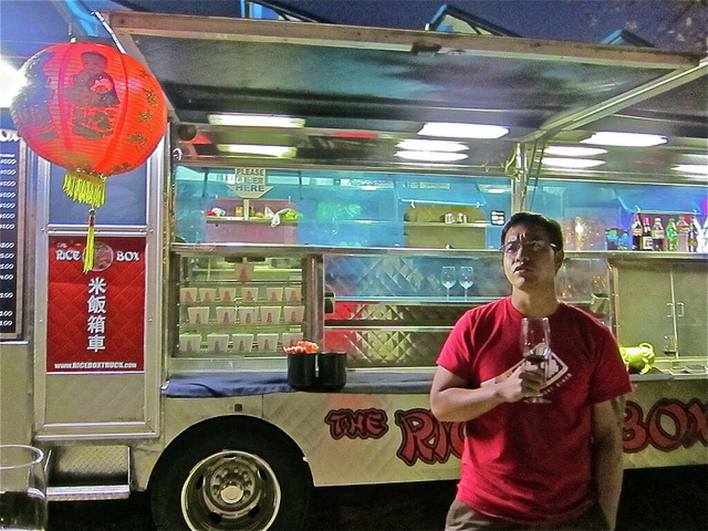 Chef Justin Yu grabs a late-night snack at the Rice Box?. Photo & The Rice Box truck goes brick and mortar - with a difference ... Aboutintivar.Com