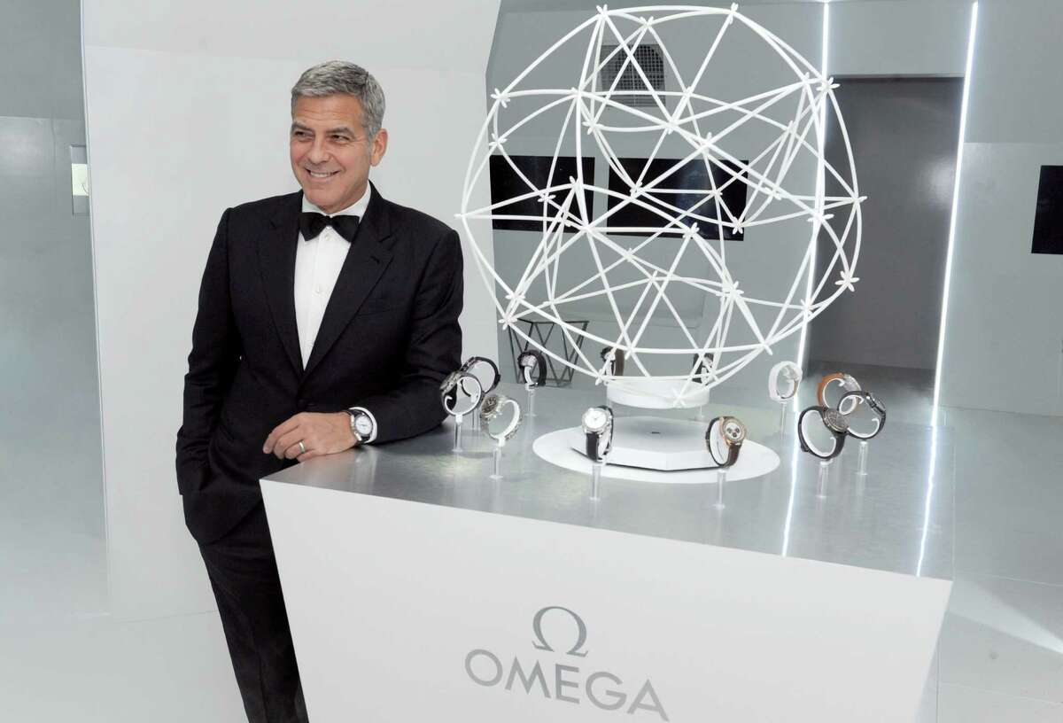 Omega brand ambassador, George Clooney, was at the 45th anniversary of Apollo 13.