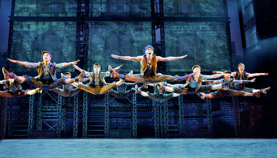 """""""Newsies"""" features a Tony-winning score by Alan Menken and Jack Feldman. The production runs through Sunday at the Hobby Center. Photo: Deen Van Meer, Photographer / ©2014 photographer Deen van Meer, all rights reserved, photographer should be credited at all times"""