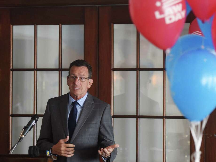 Connecticut Gov. Dannel P. Malloy speaks during the Greenwich Bar Association Law Day Luncheon at the Indian Harbor Yacht Club in Greenwich, Conn. Friday, May 15, 2015. Photo: Tyler Sizemore / Greenwich Time