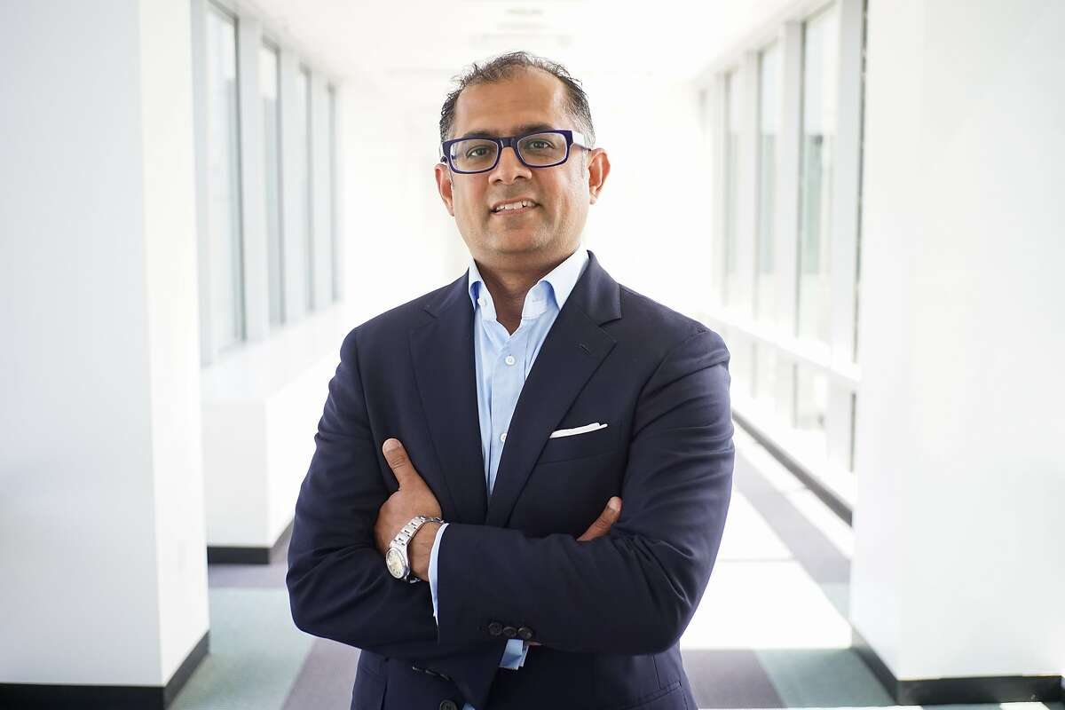 Amer Akhtar, head of Yahoo Small Business, poses for a photo at Yahoo in Sunnyvale, Calif. on Friday, May 15, 2015. Akhtar will be leading the Yahoo Small Business team as they are spun off into their own company.