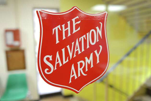 Sign inside the Troy Salvation Army building on River St. Wednesday May, 13, 2015, in Troy, N.Y. The Troy group recently celebrated their 130th anniversary.  (Will Waldron/Times Union) Photo: WW / 00031817A