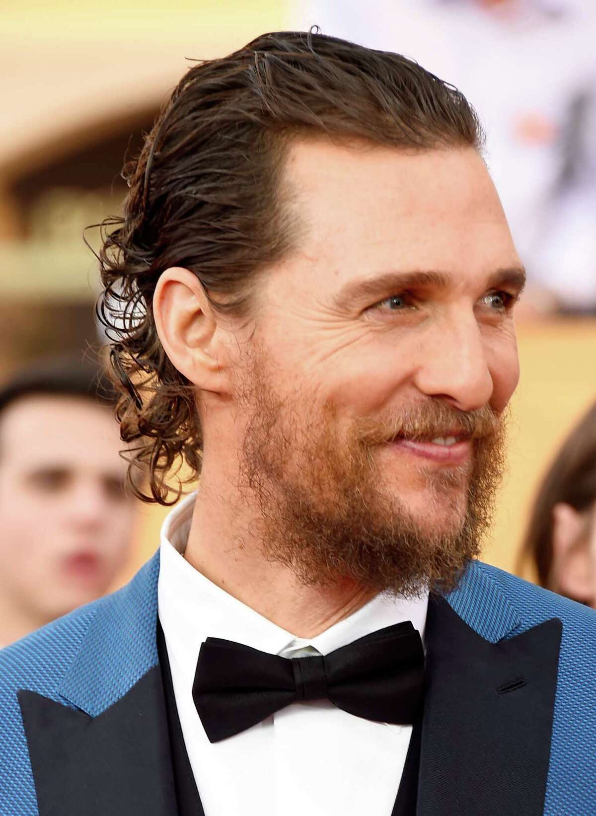 Actor Matthew McConaughey attend the 21st Annual Screen Actors Guild Awards at The Shrine Auditorium in Los Angeles, California. (Photo by Frazer Harrison/Getty Images)
