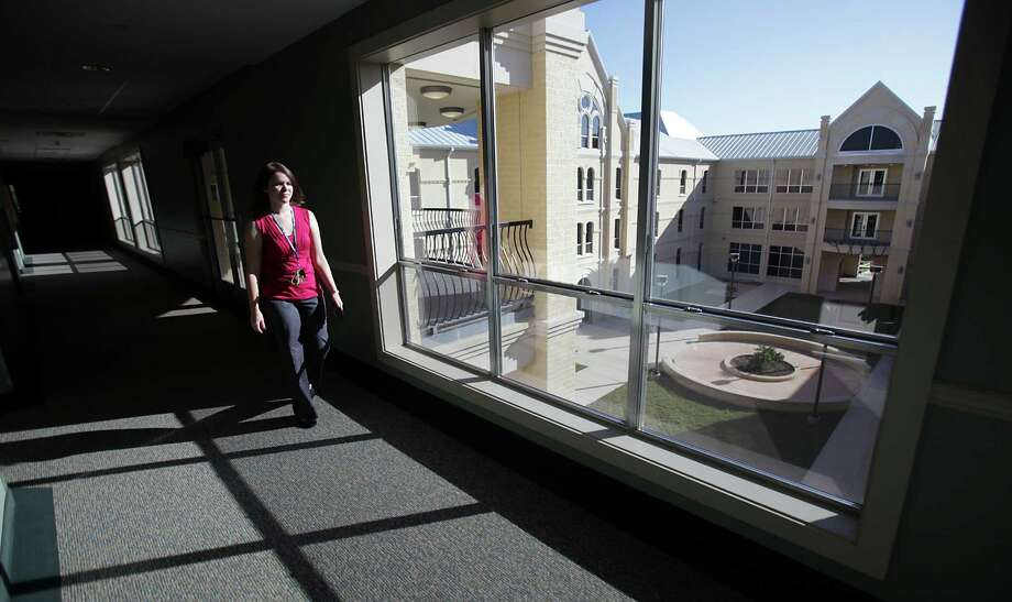 This file photo shows the view of St. Mary's University from a freshman dorm. The university gets high marks for the workplace performance of its graduates. Photo: Express-News File Photo / rowen@express-news.net