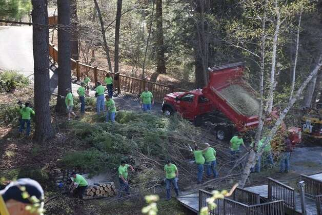 The Saratoga County Highway Superintendents Association conducted a cleanup at the Double H Ranch in Lake Luzerne this May.