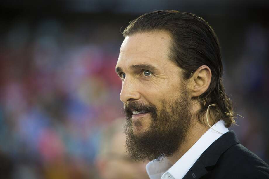 Matthew McConaughey at the University of Houston commencement ceremony on May 15. Photo: Marie D. De Jesus, Chronicle
