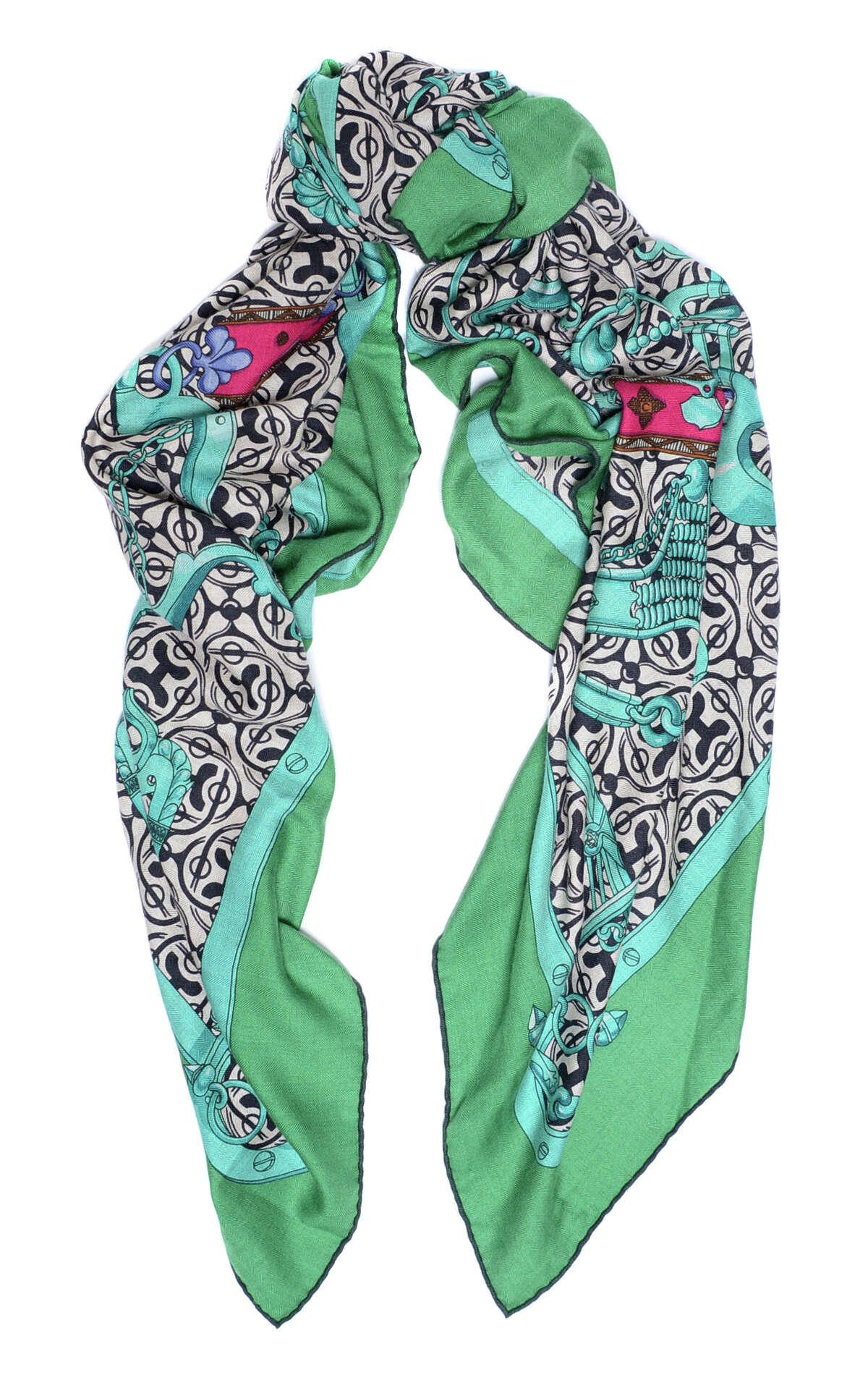 Hermes scarf, $398. Jeremy's Department Store, 2 South Park St., S.F. (415) 882-4929. http://www.jeremys.com.