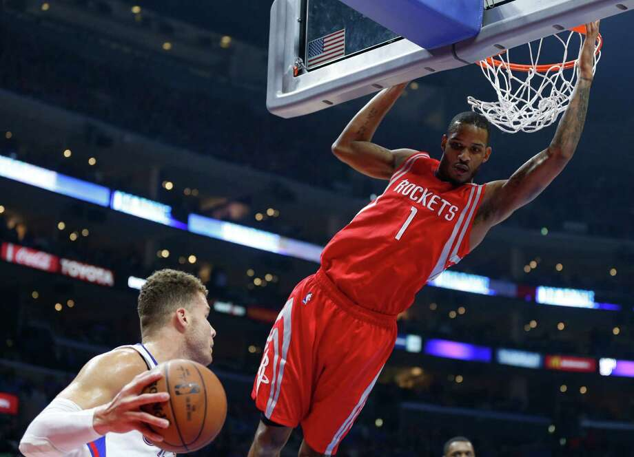 Veteran forward Trevor Ariza (1) played a key role in the Rockets' 119-107 comeback win over the Clippers on Thursday, scoring 13 points to go with two steals. Photo: James Nielsen, Staff / © 2015  Houston Chronicle