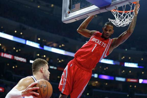 Veteran forward Trevor Ariza (1) played a key role in the Rockets' 119-107 comeback win over the Clippers on Thursday, scoring 13 points to go with two steals.