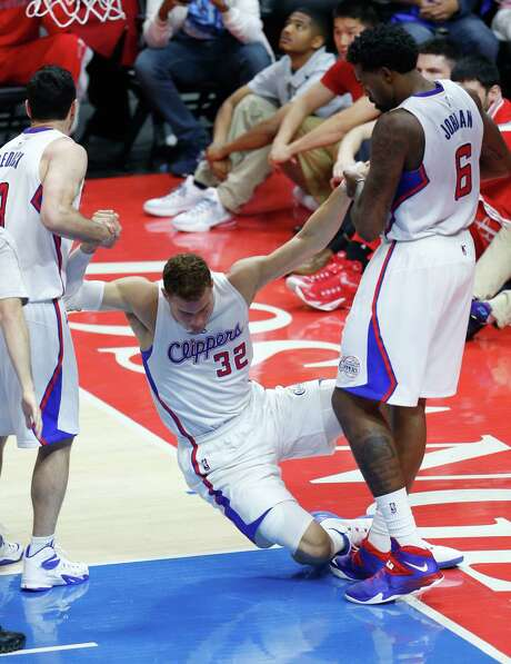 Clippers forward Blake Griffin (32), who was knocked down a few times during Thursday's Game 6 loss to the Rockets, is no doubt thrilled to have two days of rest before Game 7 at Toyota Center. Photo: Karen Warren, Staff / © 2015 Houston Chronicle