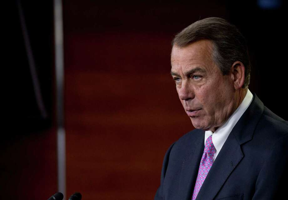 """Whatever our troops need to get the job done, they should get it, and the House has acted to provide just that,"" Speaker John Boehner said of House passage of the military spending bill. Photo: Stephen Crowley /New York Times / NYTNS"