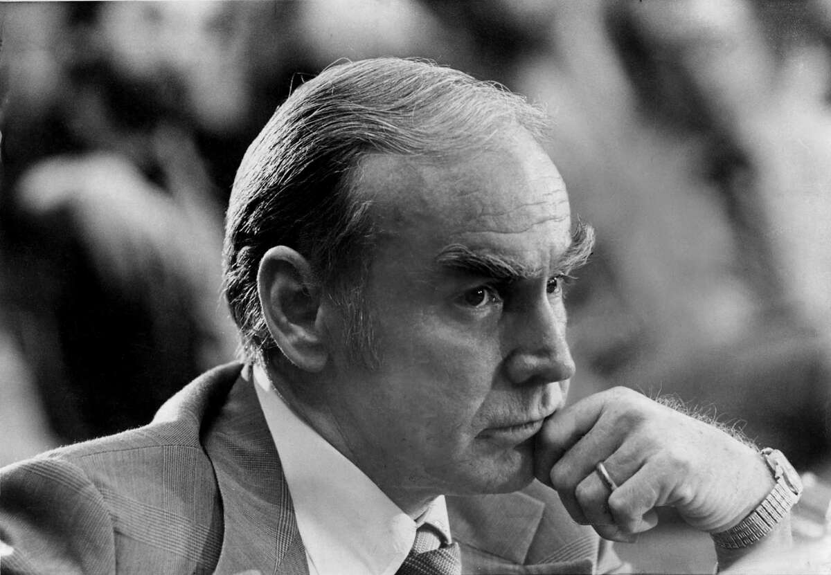 Jim Wright, seen here as U.S. House Majority Leader in 1977. Wright, who rose to the pinnacle of congressional power before ethics charges prompted his resignation as speaker in 1989, died on May 6, at age 92.