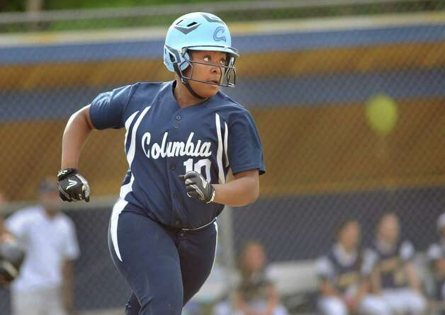 Columbia's Samara Perry hits a double during their softball game against Averill Park on Friday, May 15, 2015, at Averill Park High in Averill Park, N.Y. (Cindy Schultz / Times Union) Photo: Cindy Schultz / 10031839A