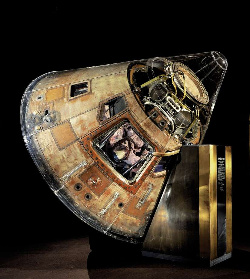 PHOTOS: Mankind's giant leap The Apollo 11 command module Columbia which carried astronauts Armstrong, Aldrin, and Collins to the Moon and back in July 1969 is seen at the National Air and Space Museum.Click through to see images from Apollo 11's trip to the moon in 1969...  Photo: Eric Long, AP