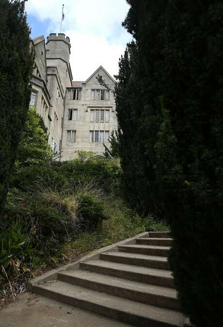 Steps lead to the all-men's Freshman dorm Bowles Hall at UC Berkeley on Friday, May 15, 2015. The historic, castle-like mansion will close for a year to be gutted and rebuilt as a coed residential college. Photo: Paul Chinn, The Chronicle