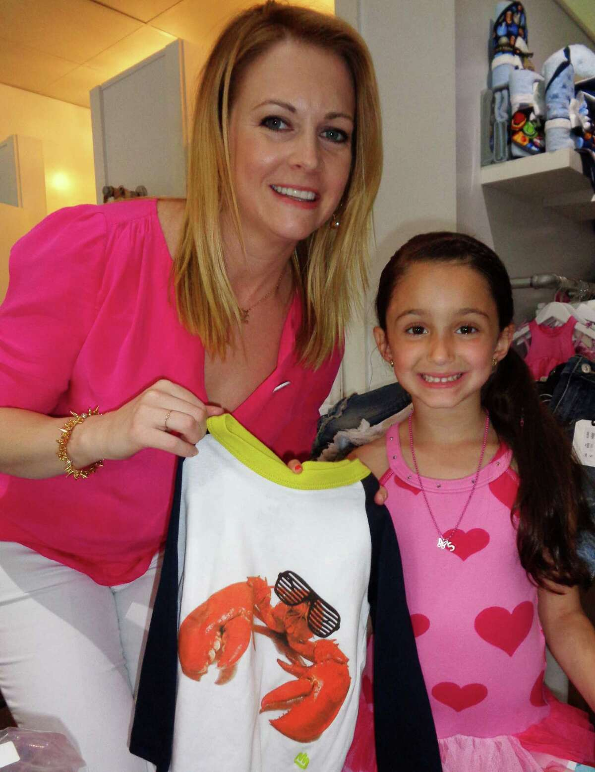 Heart and Hart: Actress Melissa Joan Hart created a boys clothing line which she showcased at Groove children's boutique Saturday, but the actress was a hit with girls who are fans of