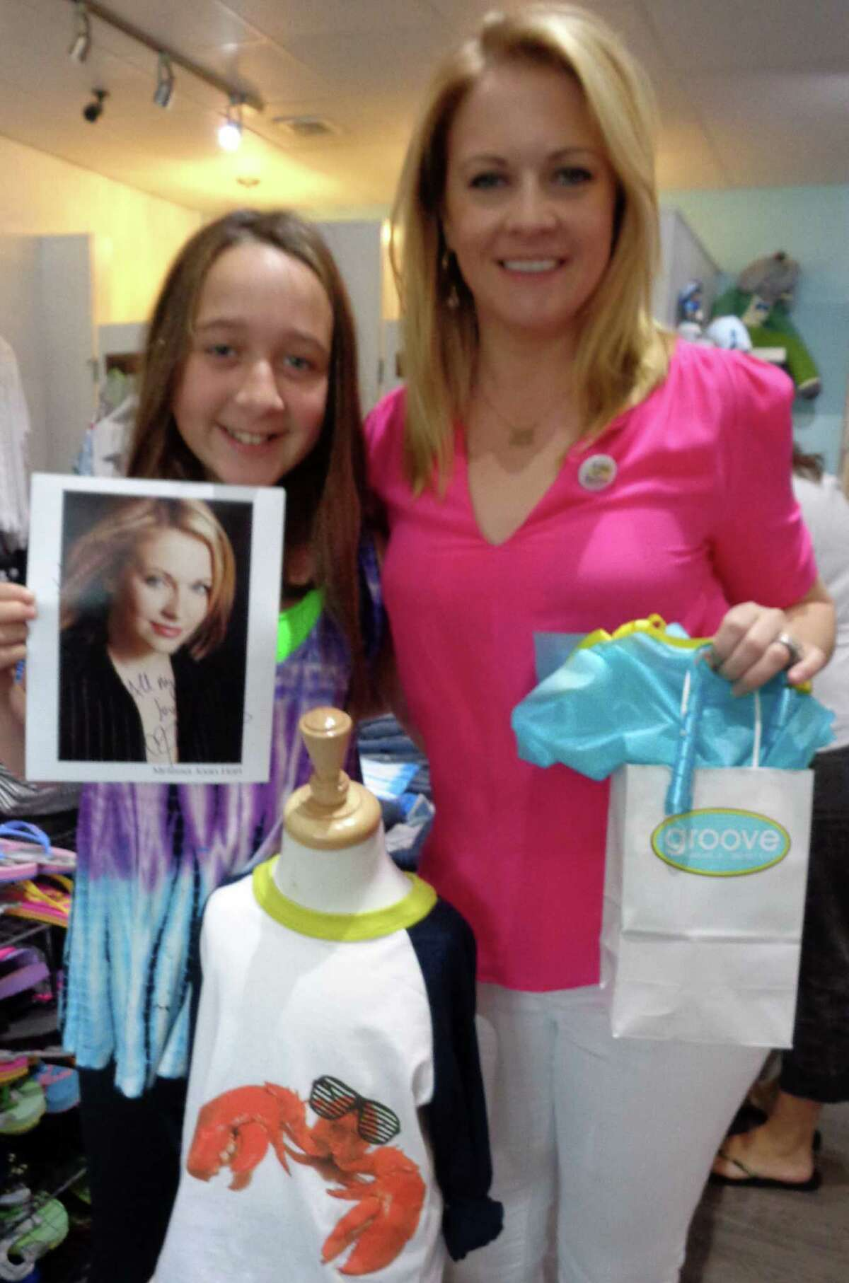 Hannah Sharkey, 11, of Westport, was thrilled to meet the star of her favorite TV show,