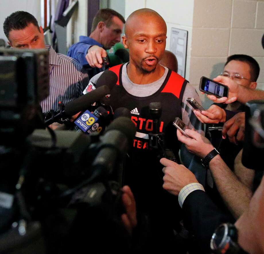 Veteran Rockets guard Jason Terry, 37, has a leg up on most of the participants in Game 7 in that he is 2-for-2 in playoff Game 7s. Photo: James Nielsen, Staff / © 2015  Houston Chronicle