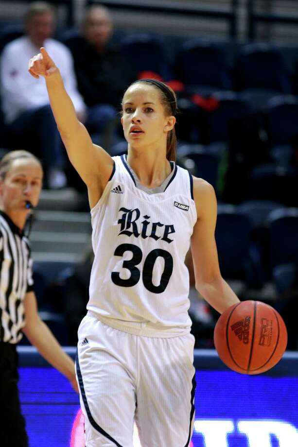 Rice product Jessica Kuster is aiming to make the Tulsa roster. She is Reagan's all-time top scorer and rebounder. Photo: Courtesy /Rice University