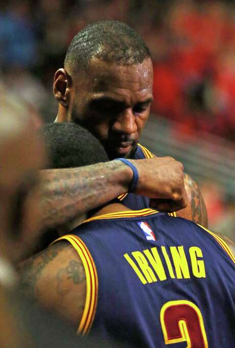 During his first season back in Cleveland, LeBron James, rear, has provided a deep well of leadership and talent for the once downtrodden Cavaliers. Photo: Jonathan Daniel, Staff / 2015 Getty Images