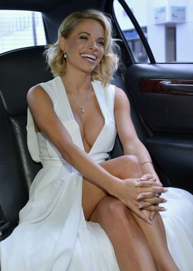 2015 Playmate of the Year Dani Mathers gets ready for Playboy's 2015 Playmate of the Year Ceremony at the Playboy Mansion on May 14, 2015 in Los Angeles, California. Photo: Charley Gallay, Getty Images  / 2015 Getty Images