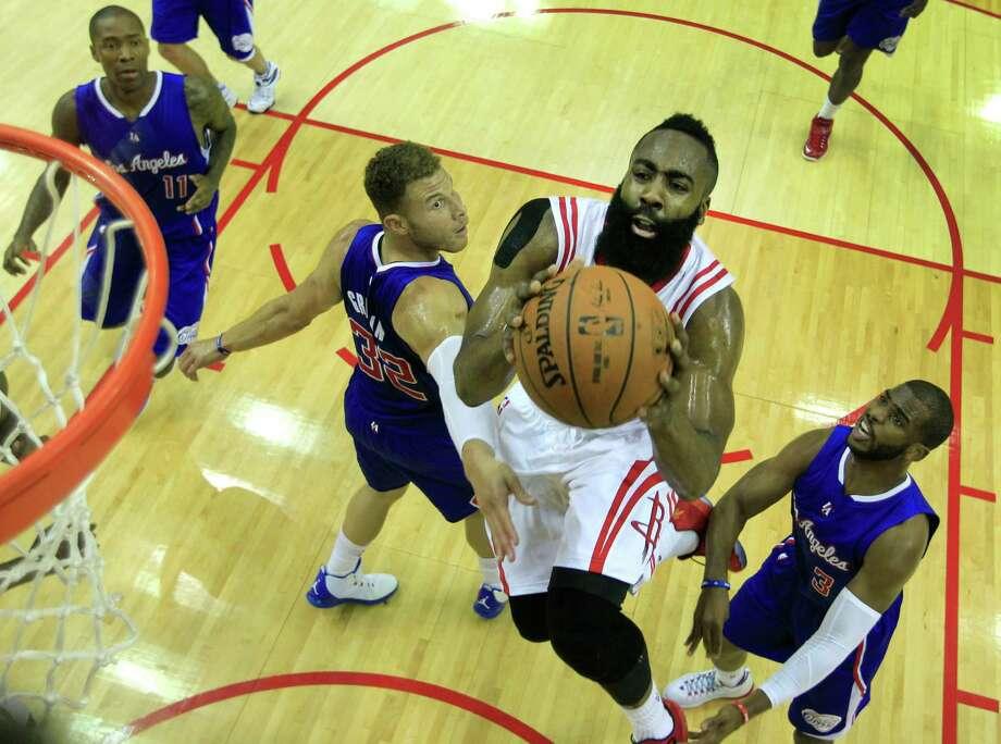 Rockets guard James Harden Photo: James Nielsen, Staff / © 2015  Houston Chronicle