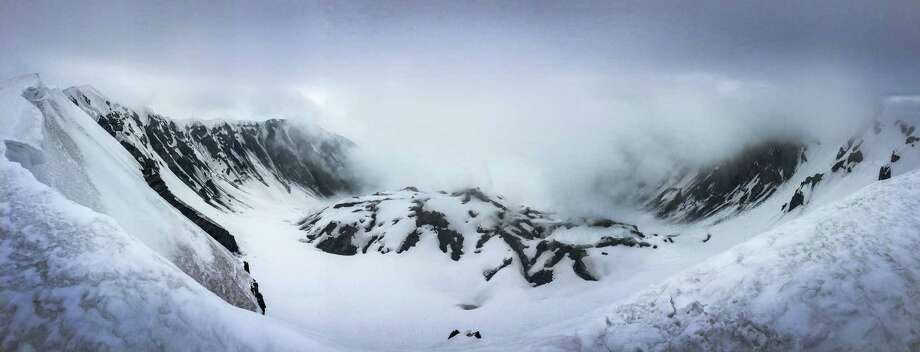 A panoramic photograph shows the crater and newly-forming cone on Mount St. Helens during a climb to the rim of the volcano on Monday, May 11, 2015. The volcano in southwest Washington exploded 35 years ago, on May 18, 1980. Photo: JOSHUA TRUJILLO, SEATTLEPI.COM / SEATTLEPI.COM