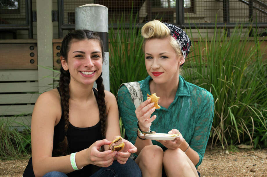 Locals got their eat and drink on S.A. style at Culinaria's annual Burgers & Beer event at the Pearl on Sunday. Photo: By J.M. Scott, San Antonio Express-News