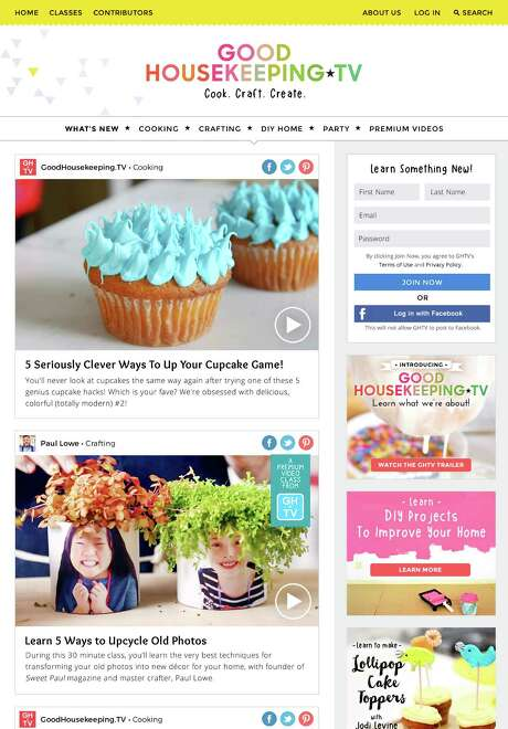 Good Housekeeping, in conjunction with Hearst Digital Studios, is launching GoodHousekeeping.TV, to provide video tutorials for arts, crafts, cooking and DIY projects. Photo: Hearst Digital Studio
