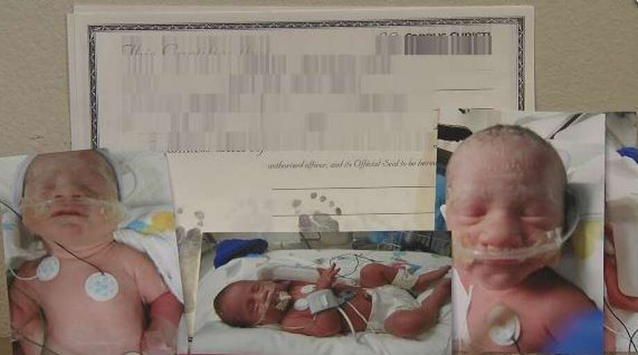 The Torres triplets, all weighing 4 pounds and 11 ounces were born Saturday in Corpus Christi. Photo: Mendoza, Madalyn S, Kiii News