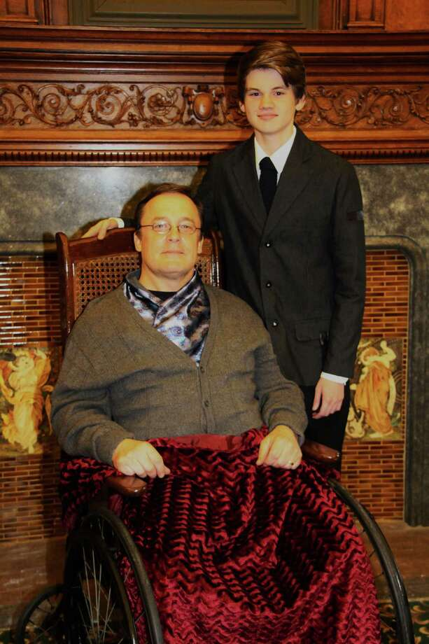 """Bruce Murray (left) and Sam Noccioli are featured in """"The Winslow Boy"""" which is closing the 25th anniversary season of Square One Theatre in Stratford on May 30. Photo: Contributed Photo / Connecticut Post Contributed"""
