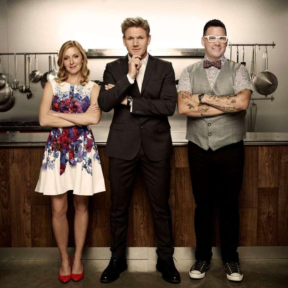 """MasterChef Junior"" judges: Pastry chef Christina Tosi, host Gordon Ramsay, and chef Graham Elliot."